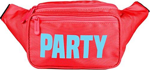 Holzkohle Grau Streifen (SoJourner Bags Gürteltasche Einheitsgröße Neon Party - rot)
