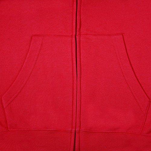 SUMG Apparel Unisex Kapuzenjacke Kapuzen Sweat-Jacke 'BASIC Hooded Zipper' Rot