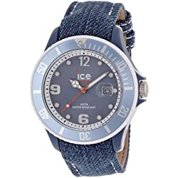 Ice-Watch Unisex Watch Analogue Quartz Ice denim Light Blue denim Big Blue DE.LBE.B.J.13 Dial Fabric Strap-Blue