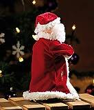 """infactory Weihnachtsartikel: Singender, tanzender Weihnachtsmann """"Swinging Santa"""", 28 cm (Tanzender Weihnachtsmann mit Musik) - 7"""