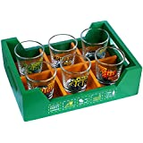 Ek Do Dhai Killer Tray With Shot Glass Set, 7-Pieces, 60ml, Multicolour
