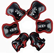 Leading Elbow and Knee Pads Set Wrist Guard for Kids Boys Girls -Thickened Design Skating Biking Bicycle Prote