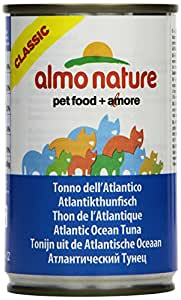Almo Nature Tradition Classic Adult Tuna Cat Food - Atlantic Tuna Wet - 24 x 140g Cans