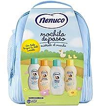 Nenuco Pack Regalo Bebé Mochila de Paseo Azul 4 x 200ml con Colonia, Jabón,