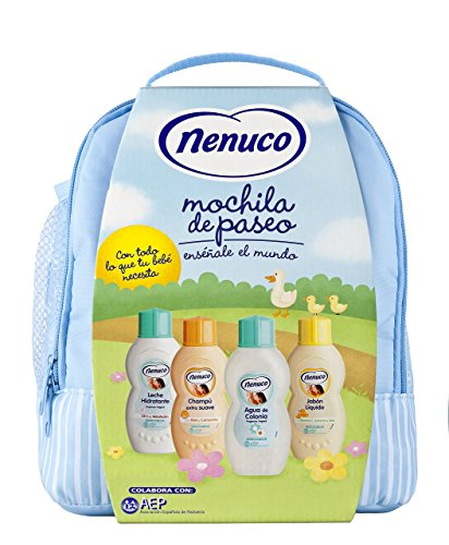 Nenuco pack regalo Bebé Mochila de Paseo Azul 4 x 200ml (precio: 10,95€)