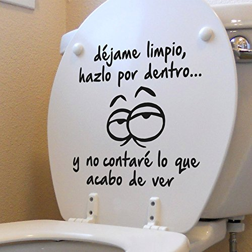 """IDEAVINILO ÚNICO VENDEDOR ORIGINAL - Sticker \""""Déjame Limpio\"""". Color negro. Medidas: 28x31cm"""