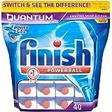 Finish Quantum Powerball Lave-vaisselle comprimés (40) - Paquet de 6