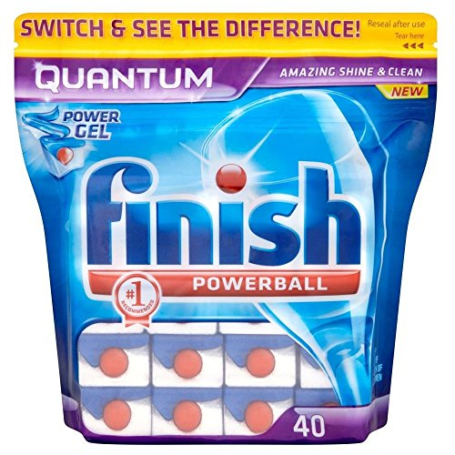 Finish Quantum Powerball Dishwasher Tabs (40) – Pack of 2