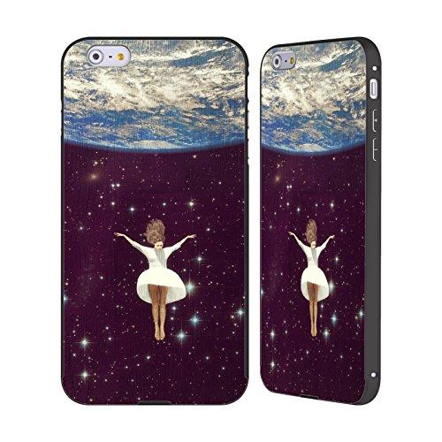 Ufficiale Paula Belle Flores La Mia Casa Da Sogno Spazio Surreale Nero Cover Contorno con Bumper in Alluminio per Apple iPhone 6 Plus / 6s Plus Lasciare Tutto Indietro