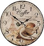 Boltze Küchenuhr Bürouhr mit Kaffee Motiv