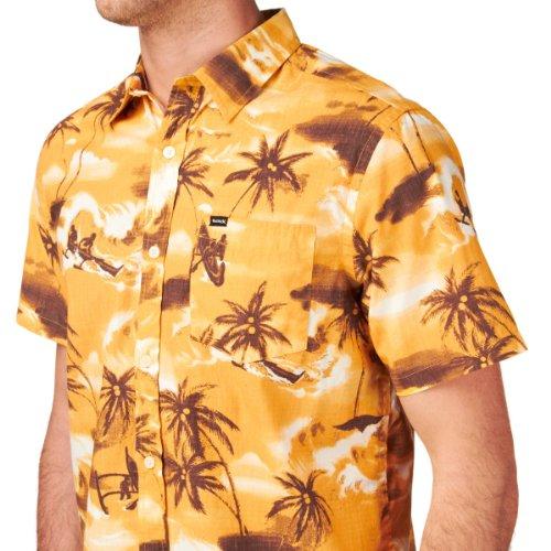 Hurley Herren Kurzarmhemd Gelb