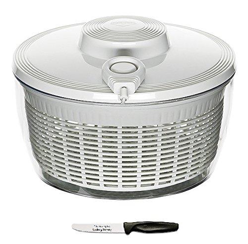 Küchenprofi Salatschleuder weiß + Edelstahlstyling Universalmesser im Set