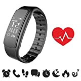 endubro Fitness Armband | Fitness Tracker | Aktivitätstracker | Smart Bracelet | Schrittzähler | Benachrichtigungen | Fitness Uhr Wasserdicht IP67 für Android und IOS (i7HR)