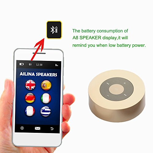 Touch-Bluetooth-Speakers-Mini-Portable-Rechargeable-Speaker-Built-in-Microphone-for-MP3-Players-Smart-Phones-Pads-Laptops-Other-Devices-Ailina-Gold