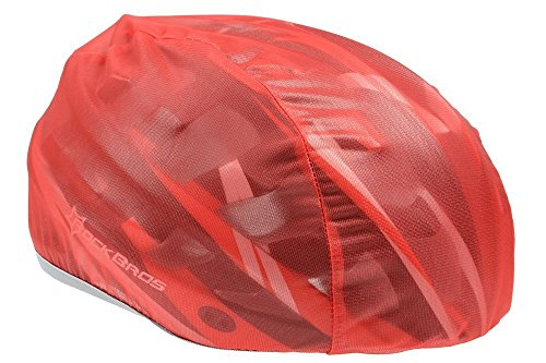 ROCKBROS Helmüberzug Regenüberzug Regenkappe Abdeckung Helm Cover Fahrrad Rennrad, Rot