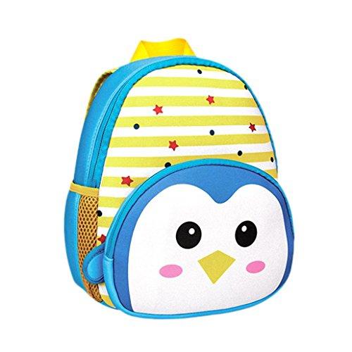 Wawer Child Cartoon Toddler Kid School Bags Shoulder Bookbags Backpack Suit For 3-6 YAERS Kids