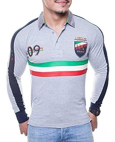 Longshirt Italy Look BB-1002 (L, Grau ) (Bb Satin-stern)