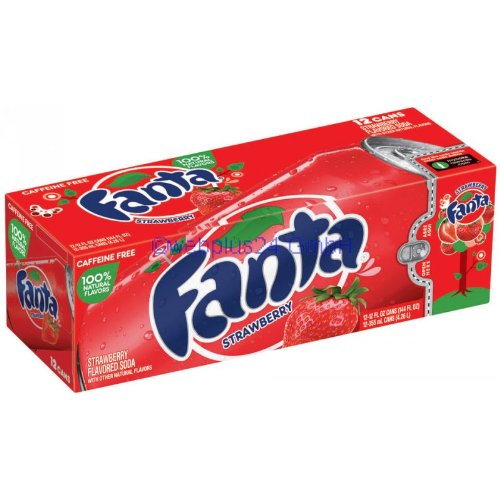Fanta Strawberry 12oz (355mL) - 24 - Aus Der Hamburger Dose
