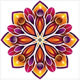 NISH! Rangoli Sticker #013 (Vinyl, Medium - 18in X 18in, 50 Pieces) | Rangoli Stickers Floor | Rangoli Floor Stickers | Rangoli Stickers For Wall | Rangoli Stickers For Doors | Diwali Rangoli Stickers