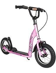 BIKESTAR® Premium Mädchentraum Kinderroller Bestseller in seiner Klasse und geeignet ab 7 Jahren ★ 12er Sport Edition ★ Glamour Pink