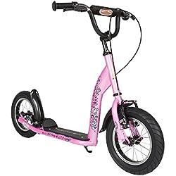 Bikestar Trottinette Enfant 2 Roues pour Garcons et Filles de 6-10 Ans ★ Patinette Enfant 12 Pouces Sportif ★ Rose