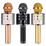 #3: WSTER WS-858 Wireless Bluetooth Condenser Handheld Microphone Stand With Bluetooth Speaker Audio Recording For Cellphone Karaoke Mic by Hoppers Point