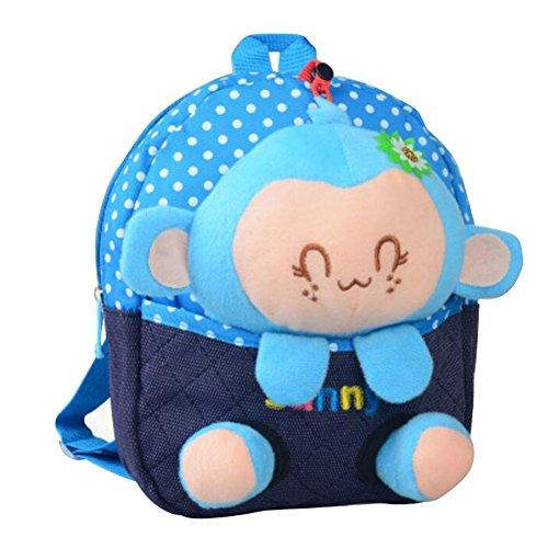 Preisvergleich Produktbild Netter Karikatur-Rucksack Kindergarten Umhängetasche Mode-Schule-Beutel-Affe A1
