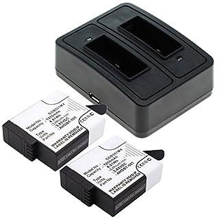 Cellonic 2X Akku kompatibel mit GoPro Hero 5 5 Black, Hero 6 Black (AABAT-001 ASST1 CHDHX-501) Hero 7 Black Hero 7 White, AHDBT-501 1250mAh + Dual-Ladegerät Charger Ersatzakku Batterie Ladekabel