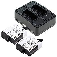 CELLONIC 2X Batería + Cargador Compatible con GoPro Hero 5 Black Hero 6 ...