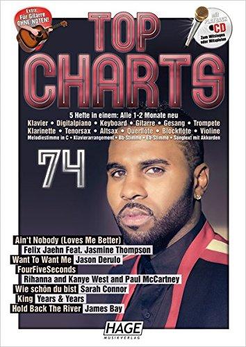 Top Charts 74 mit CD: Die besten und erfolgreichsten Hits aus den aktuellen Charts! Ain't Nobody (Loves Me Better) - Want To Want Me - FourFiveSeconds - Wie schön du bist - King - Hold Back The River