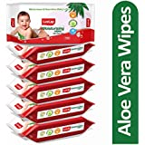 LuvLap Paraben Free Baby Wipes with Aloe Vera (72 Wipes/Pack, Pack of 6)
