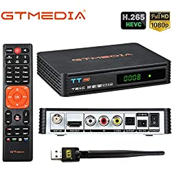 GT Media TT Pro DVB-T/T2 DVB-C Décodeur TDT, Récepteur câble TV numérique avec USB Wifi, 1080P Full HD MPEG-2/4 H.265 HEVC AVS+ FTA Support PVR Ready, CCcam, Newcam, Youtube