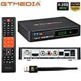 GT media TT Pro DVB-T / T2 DVB-C TDT Decodificador, Receptor de Cable de TV Digital con USB Wifi, 1080P Full HD MPEG-2/4 H.265 HEVC AVS + FTA Soporte PVR Ready, CCcam, Newcam, Youtube