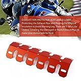 Universal-Aluminium-Motorrad-Auspuff-Schalldämpfer-Rohr-Schutz-Hitze-Schild-Abdeckung (Farbe: Orange)