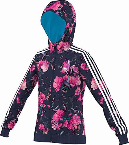 adidas Originals Floral TT Jacke Firebird Kinder Trainingsjacke Blumen Blau Pink, Farbe:Dunkelblau, Größe:158 (Adidas Kinder Blume)