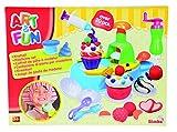 Simba 106329789 - Art & Fun Knetset Cupcake 4 x 50g 19-teilig