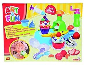 Simba Dough Set Cupcake Pasta para modelar Azul, Rojo, Color blanco, Amarillo - compuestos para cerámica y modelaje (Pasta para modelar, Azul, Rojo, Color blanco, Amarillo, 4 pieza(s), 4 Colores, 3 año(s), 9 año(s))