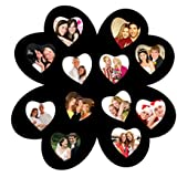 Trendzy 12-in-1 Hearts In Hearts Collage Wall Hanging Photo Frame (Size: Large; 58.4 Cm X 1.1 Cm X 58.4 Cm, Color - Black; Finish - Matte; Frame - 1; Photos - 12, Hanging Hook - 1)