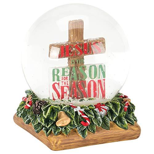 Wasserkugel mit Lichterkette Jesus is The Reason, 12,7 cm ()
