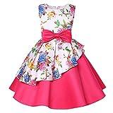 Beikoard Mädchen Baby Kleid Prinzessin Kleid Brautjungfer Pageant Kleid Geburtstag Party Brautkleid Bogen Unregelmäßig Rock Tutu 24M-7T