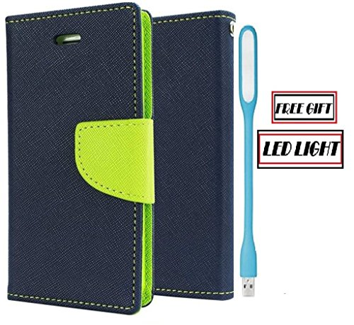 Coolpad Note 3 Lite Royal Diary Flip Cover (Blue/Green + LED Light ) By Online Street