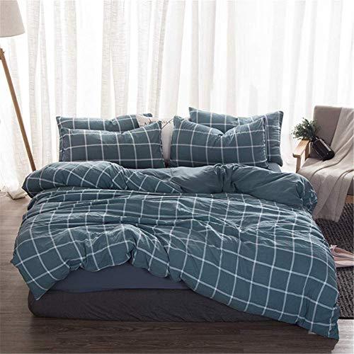 Bettwäsche Set Mikrofaser Bettbezug Solide Twin Full Queen King Size Bettwäsche Bettlaken für Erwachsene B 180x220cm ()