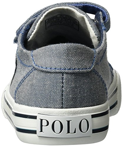 Ralph Lauren - Slater Ez, Pantofole Unisex – Bambini Blau (Blue chambray w/ navy pp)