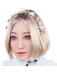 Fem.Cyomi Masque de tête réaliste en Silicone Souple Fait à la Main pour Crossdresser, Transgenre, Drag Queen, Halloween, déguisement 1 g