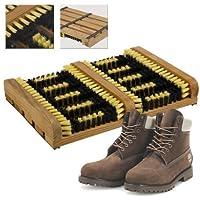 Heavy Duty Double Shoe Boot Scraper Outdoor Mat