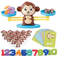 Mumfactory Monkey toys Number Balance Math Games Preschool Educational Toys Early Math Teaching Tool Counting Toy