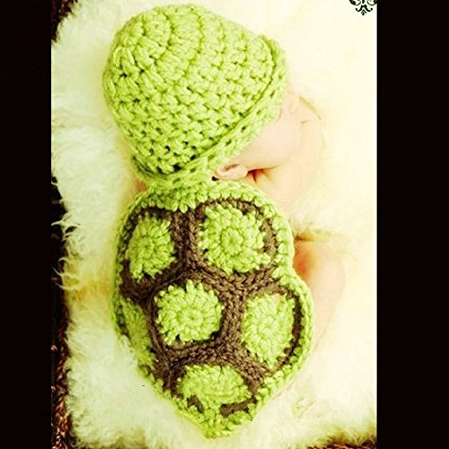 PIXNOR Cute Baby Infant Tortoise Newborn Turtle Costume -