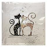 KIUB SPA01A01 Servietten, 33 x 33 cm, Motiv Katzen, 20 Stück