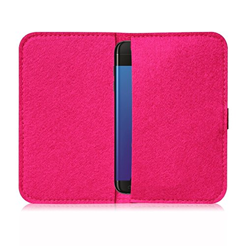 Filz Hülle für Apple iPhone 6s Plus / 6 Plus Tasche Cover Case Flip Filztasche , Farben:Türkis Pink