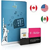 Prepaid Sim-Karte USA, Kanada & Mexiko - 6GB 4G LTE - Unbegrenzte internationale Anrufe und Sms - 30 Tage